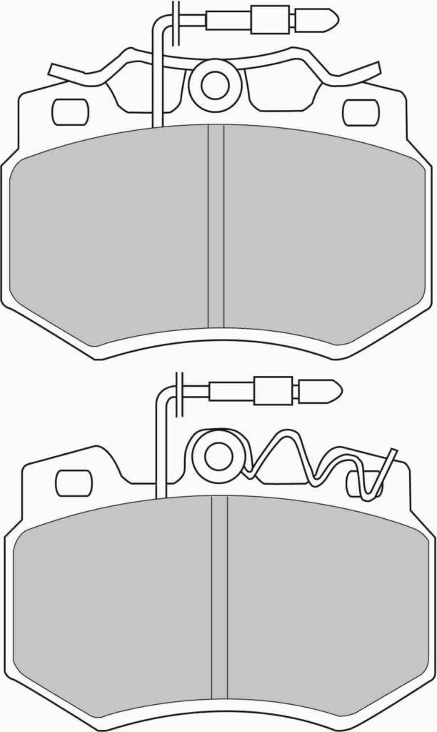 Схема тормозных колодок